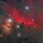 Horshead nebula in constellation of Orion