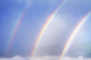 Rare triple rainbow,