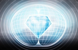 blue diamond stuck in energy capsule as science project